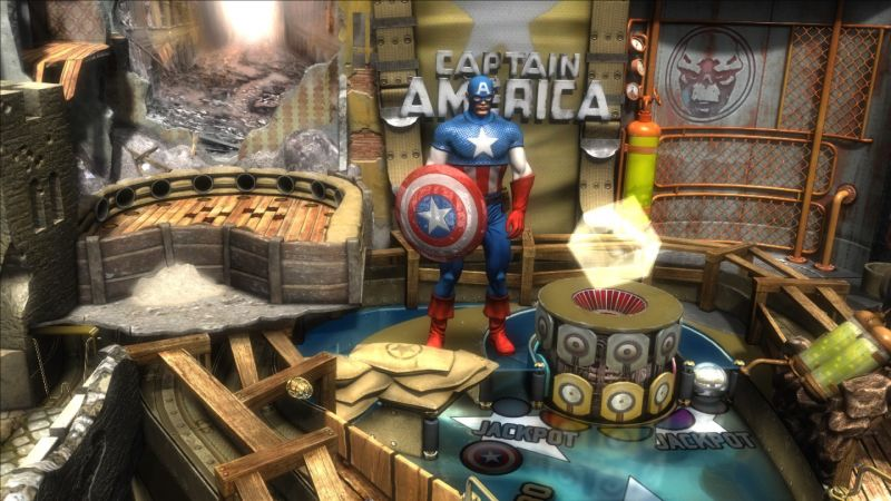 Pinball FX2: Captain America Screenshot