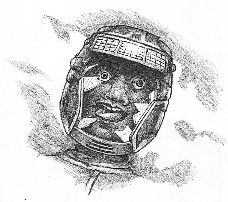 "Total Recall Concept Art A drawing by <a href=""http://www.mobygames.com/developer/sheet/view/developerId,12550/"">Steve Cain</a> drawn in preparation of a major revamp of the design by <a href=""http://www.mobygames.com/developer/sheet/view/developerId,1710/"">Simon Butler</a> after a disastrous initial design."