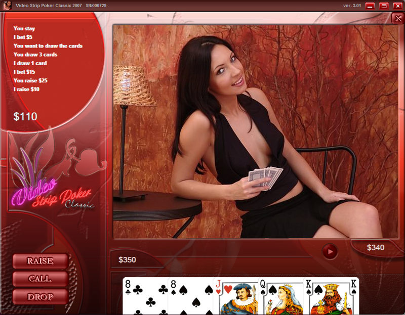 Video strip poker game