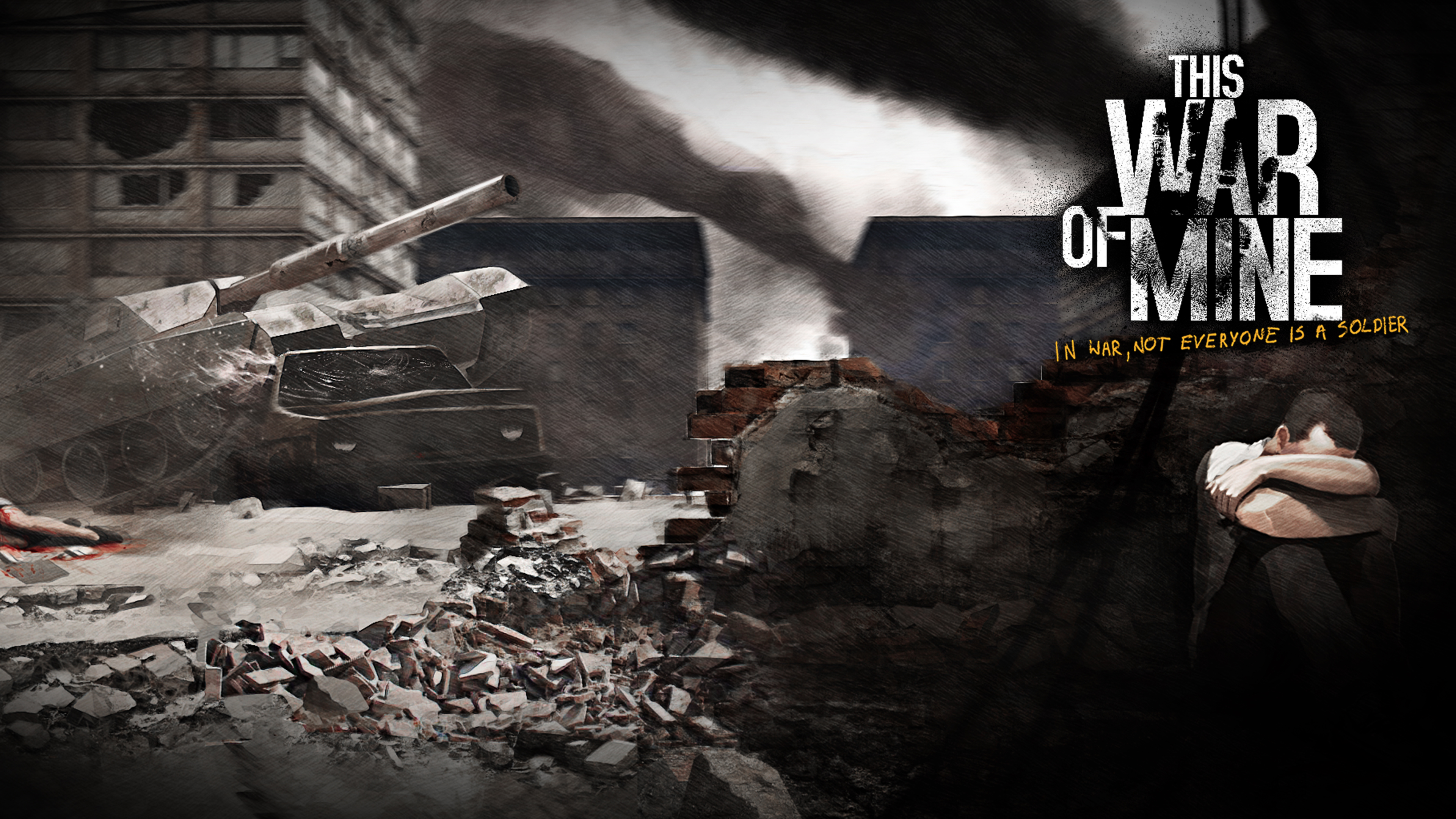 This War Of Mine Wallpaper: This War Of Mine: The Little Ones (2016) Promotional Art