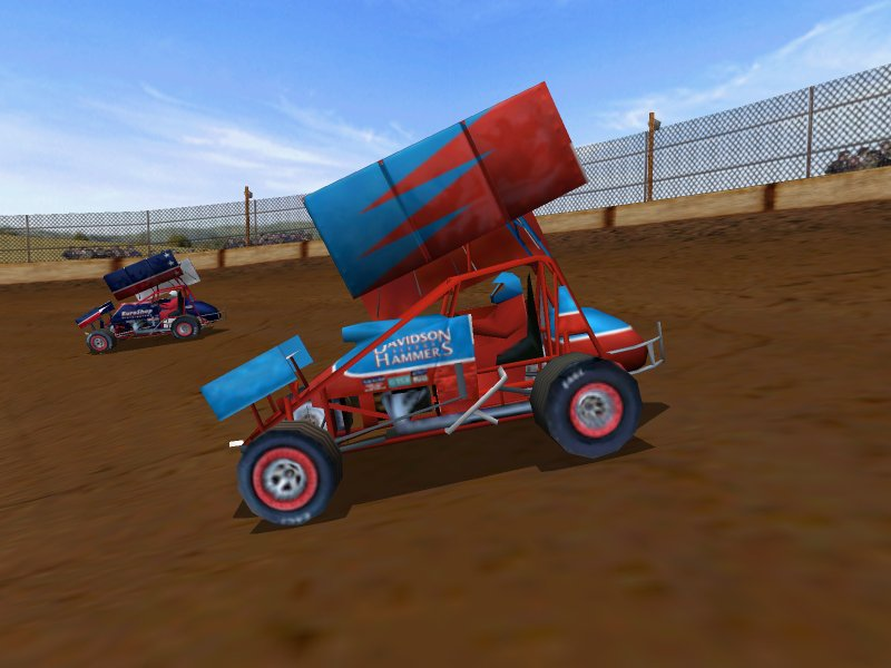 Dirt Track Racing: Sprint Cars (2000) promotional art