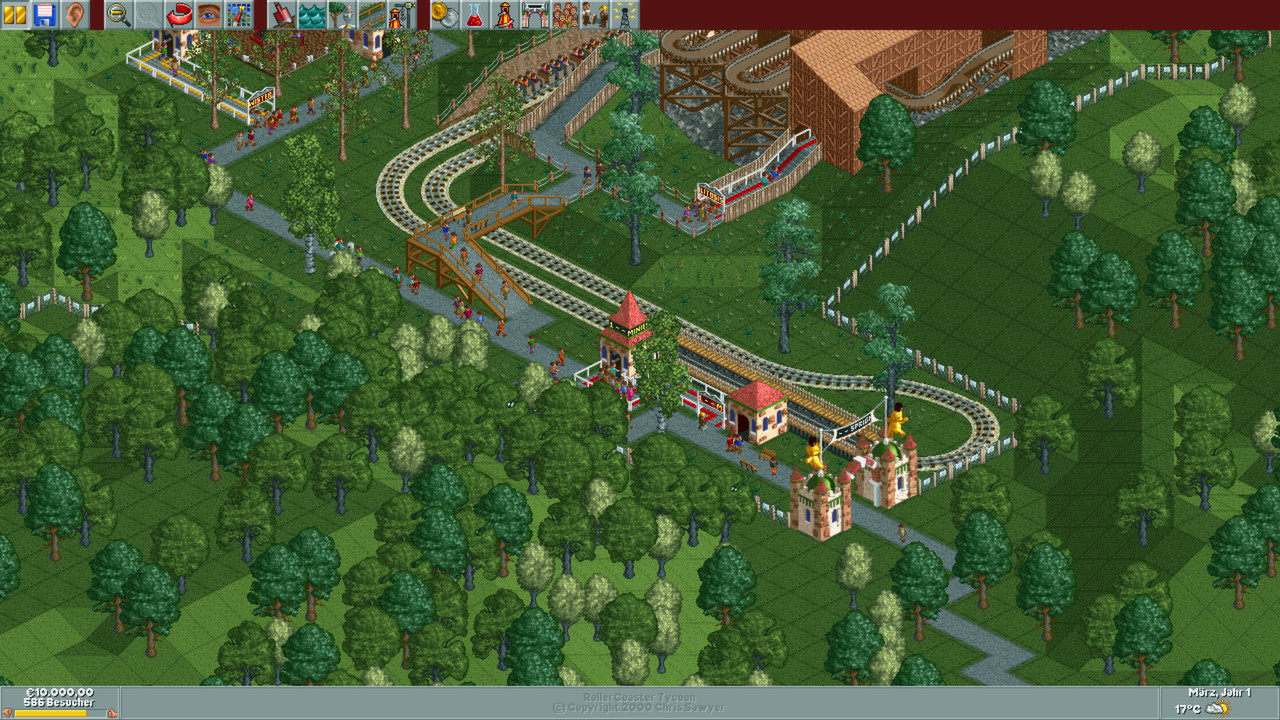 RollerCoaster Tycoon: Gold Edition (2000) promotional art