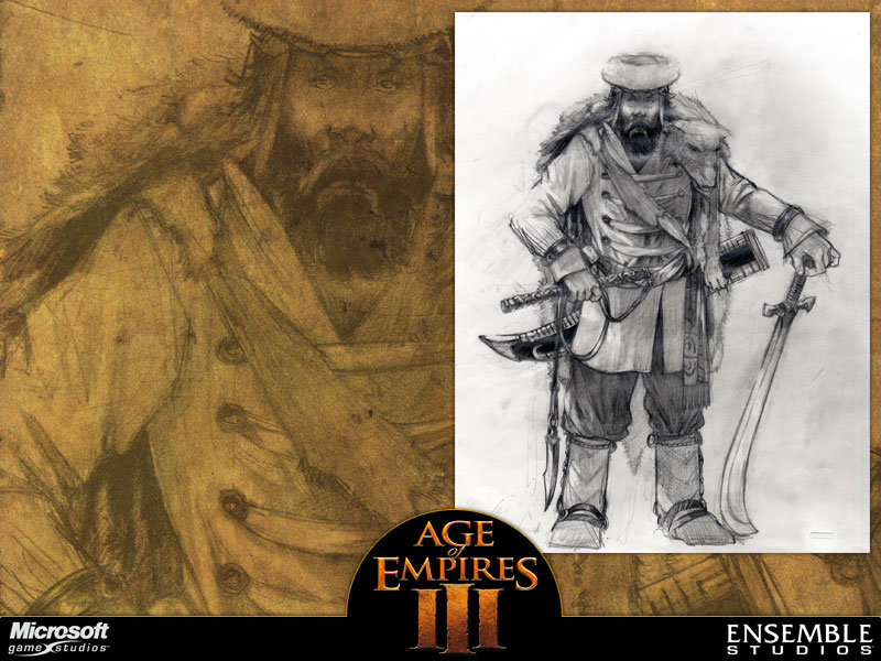 Age of Empires III (2005) promotional art - MobyGames