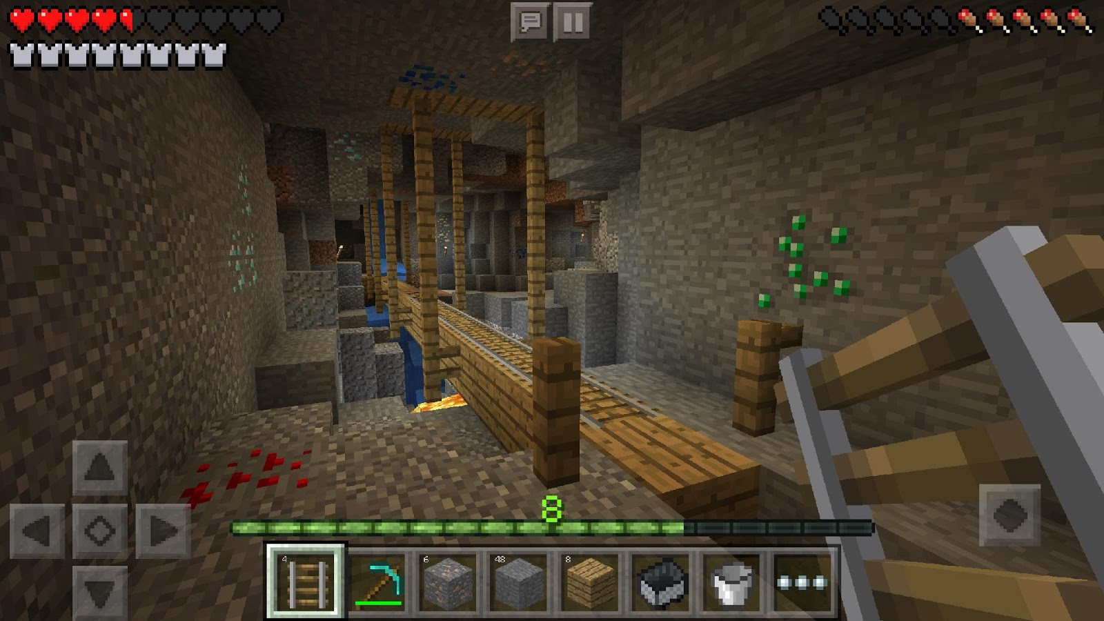 Minecraft pocket edition 2011 promotional art mobygames minecraft pocket edition screenshot ccuart Image collections