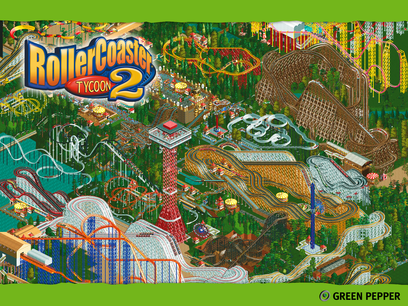 rollercoaster tycoon 2 (2002) promotional art - mobygames