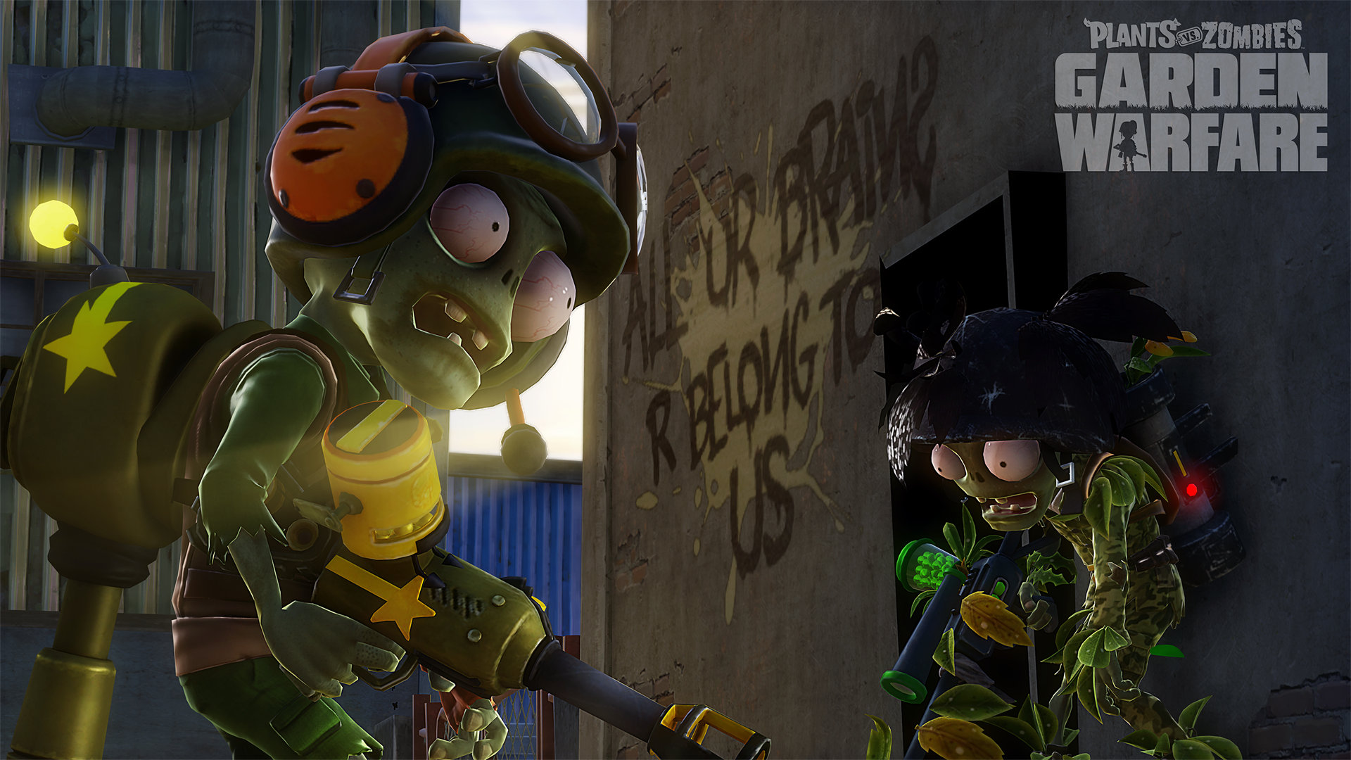 Plants vs. Zombies: Garden Warfare (2014) promotional art - MobyGames