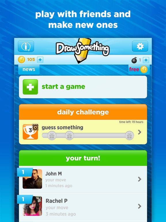 Draw Something (2012) promotional art - MobyGames