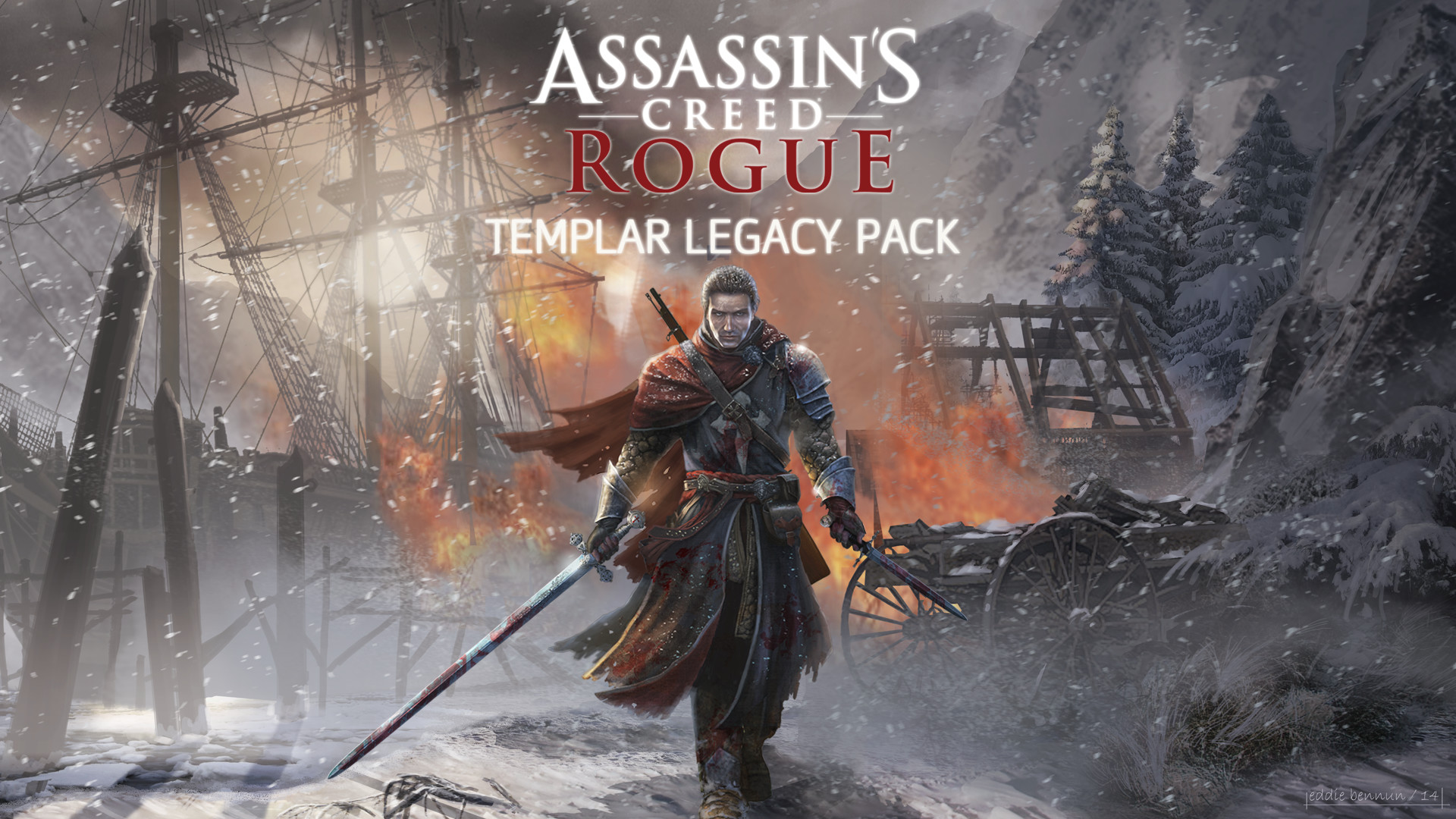 Assassin S Creed Rogue Templar Legacy Pack 2015 Promotional Art
