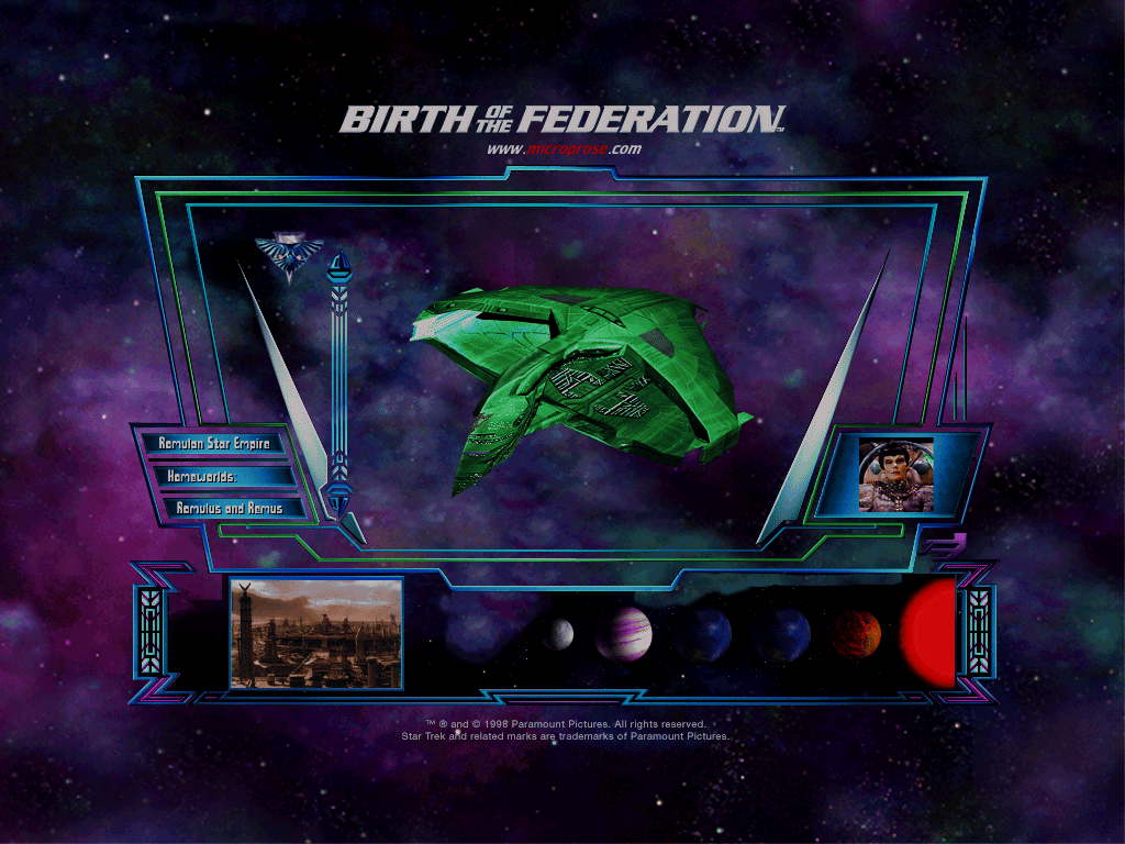 Star Trek The Next Generation Birth Of The Federation 1999