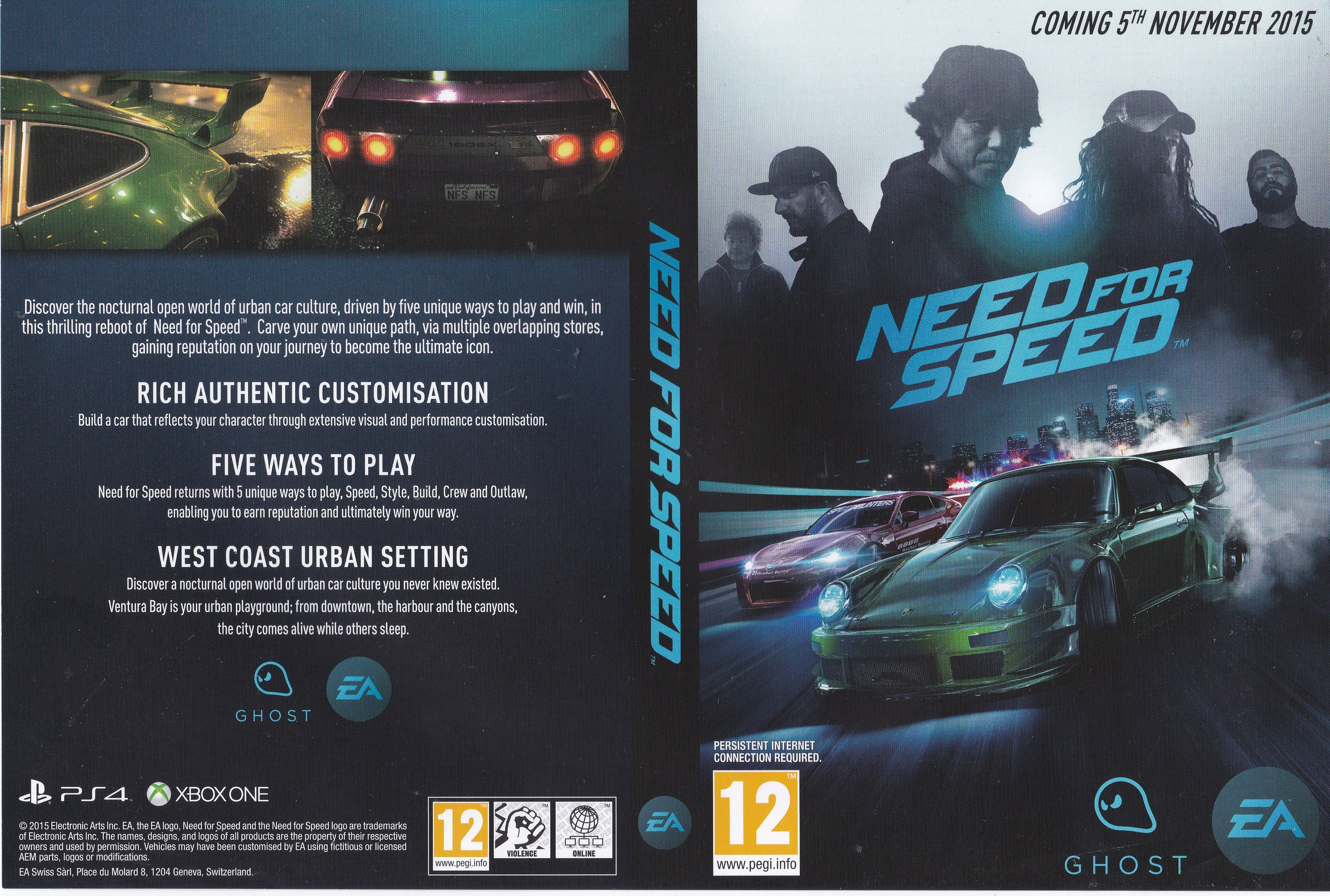 Need For Speed 2015 Promotional Art Mobygames  Xbox One Other