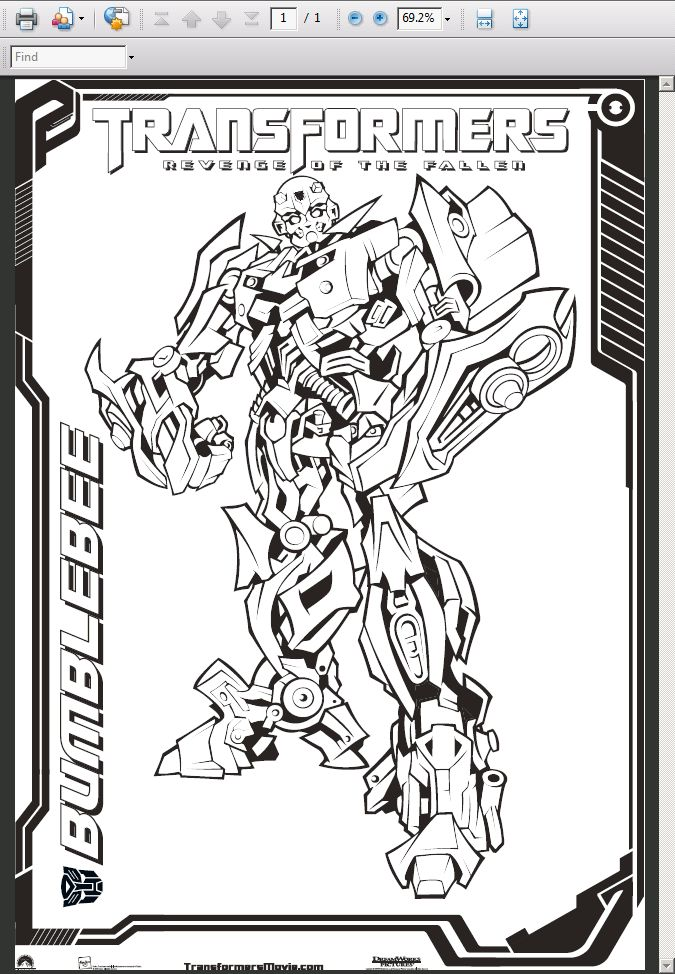 Transformer Revenge Of The Fallen Coloring Pages - Coloring Home | 974x675