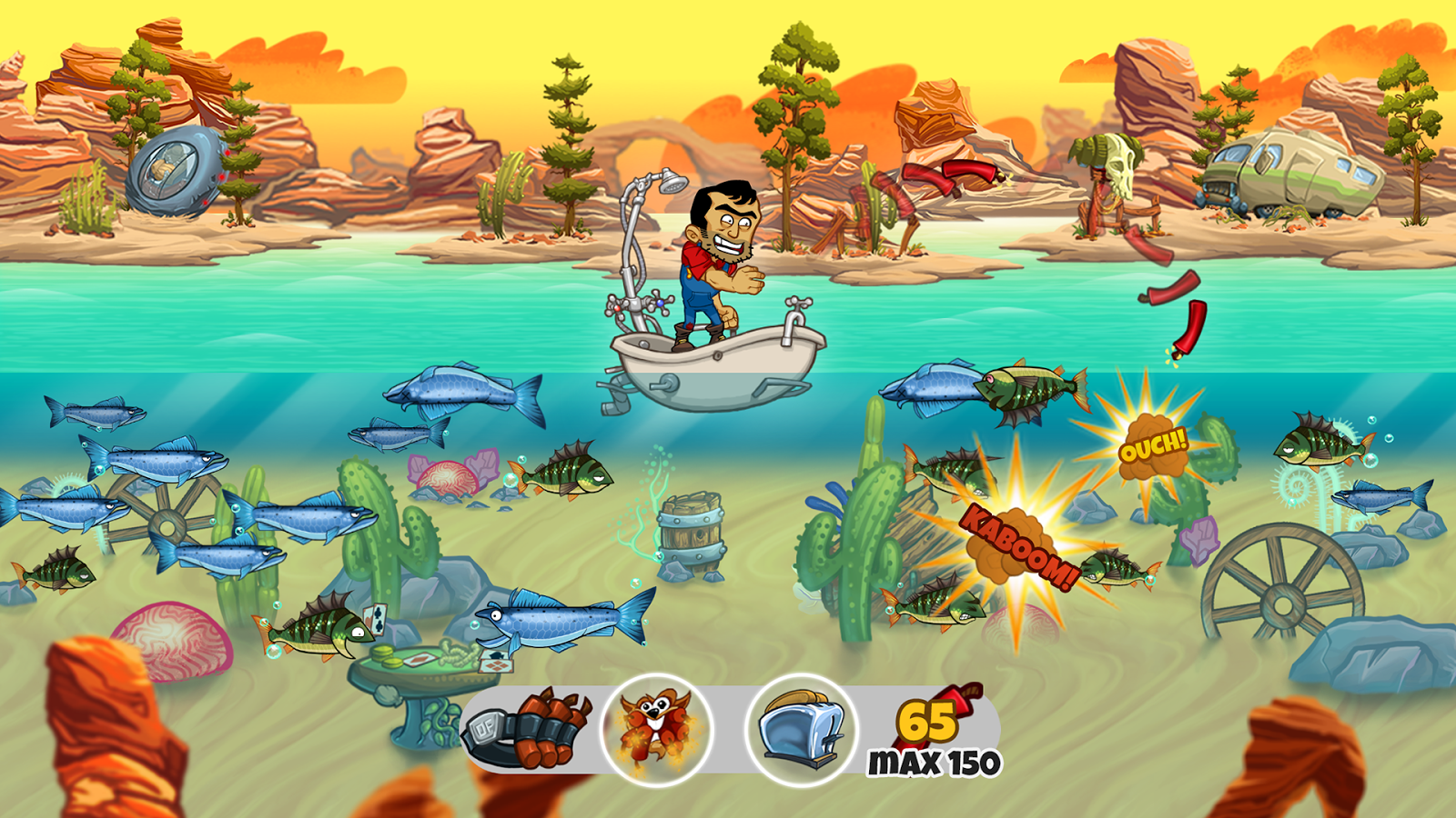 dynamite fishing world games 2015 promotional art mobygames