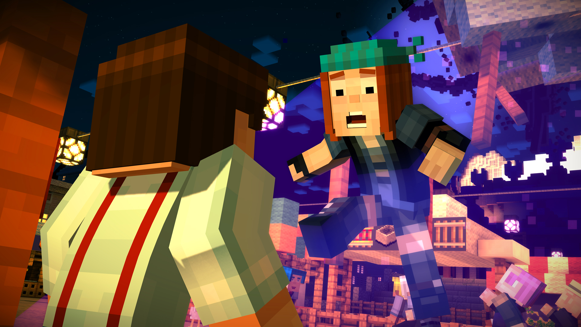 Minecraft: Story Mode (2015) promotional art - MobyGames
