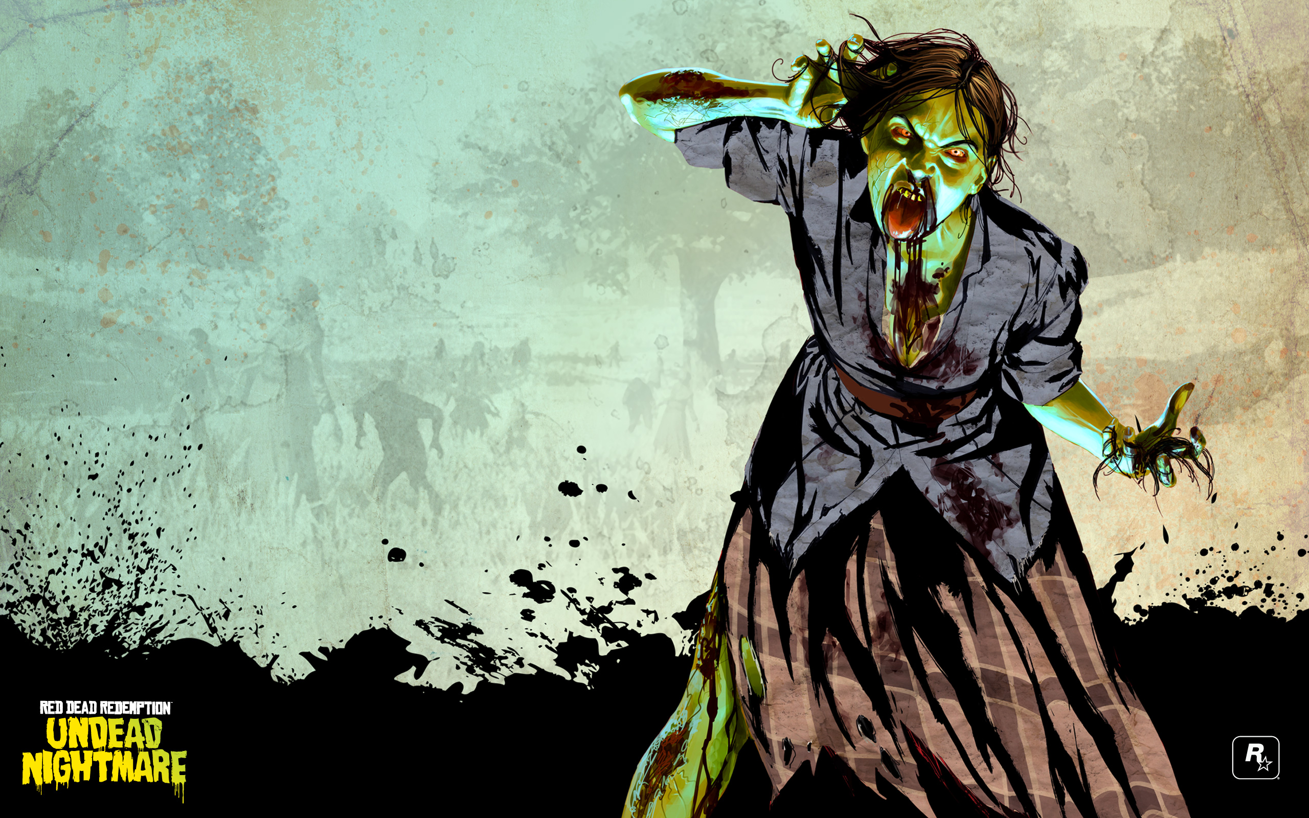 Red Dead Redemption Undead Nightmare 2010 Promotional Art