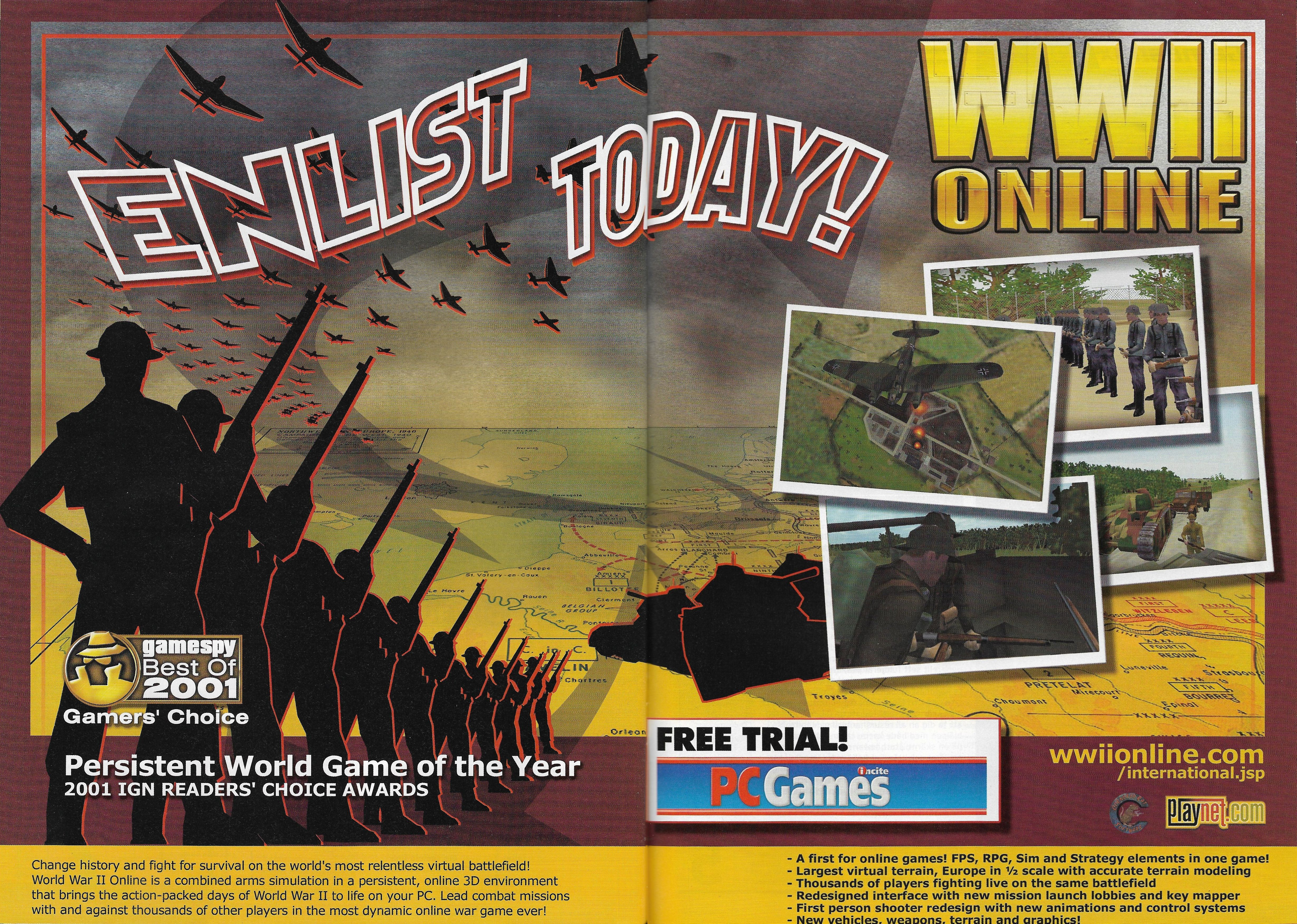 WWII Online: Blitzkrieg (2001) promotional art - MobyGames