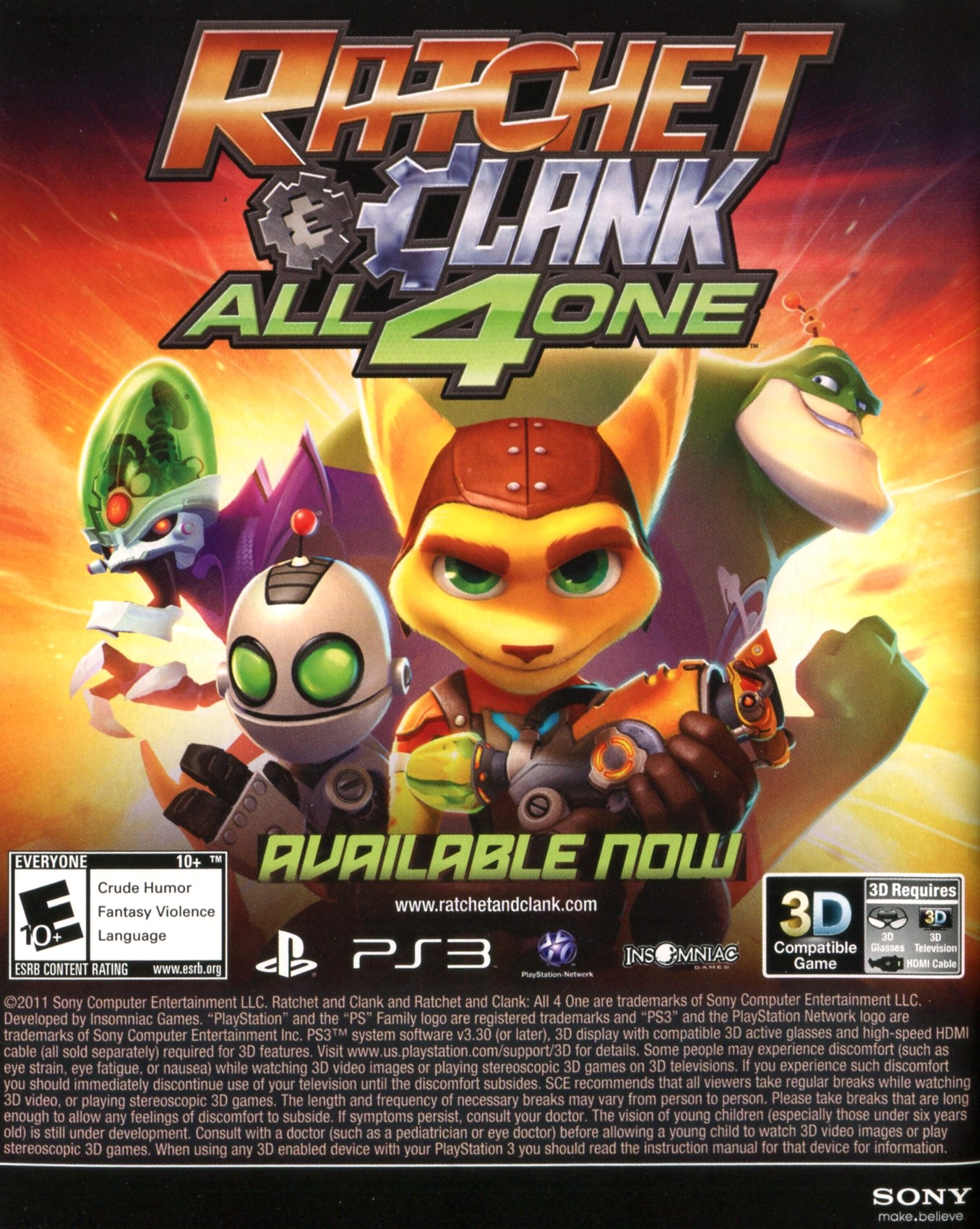 Ratchet Clank All 4 One 2011 Promotional Art Mobygames