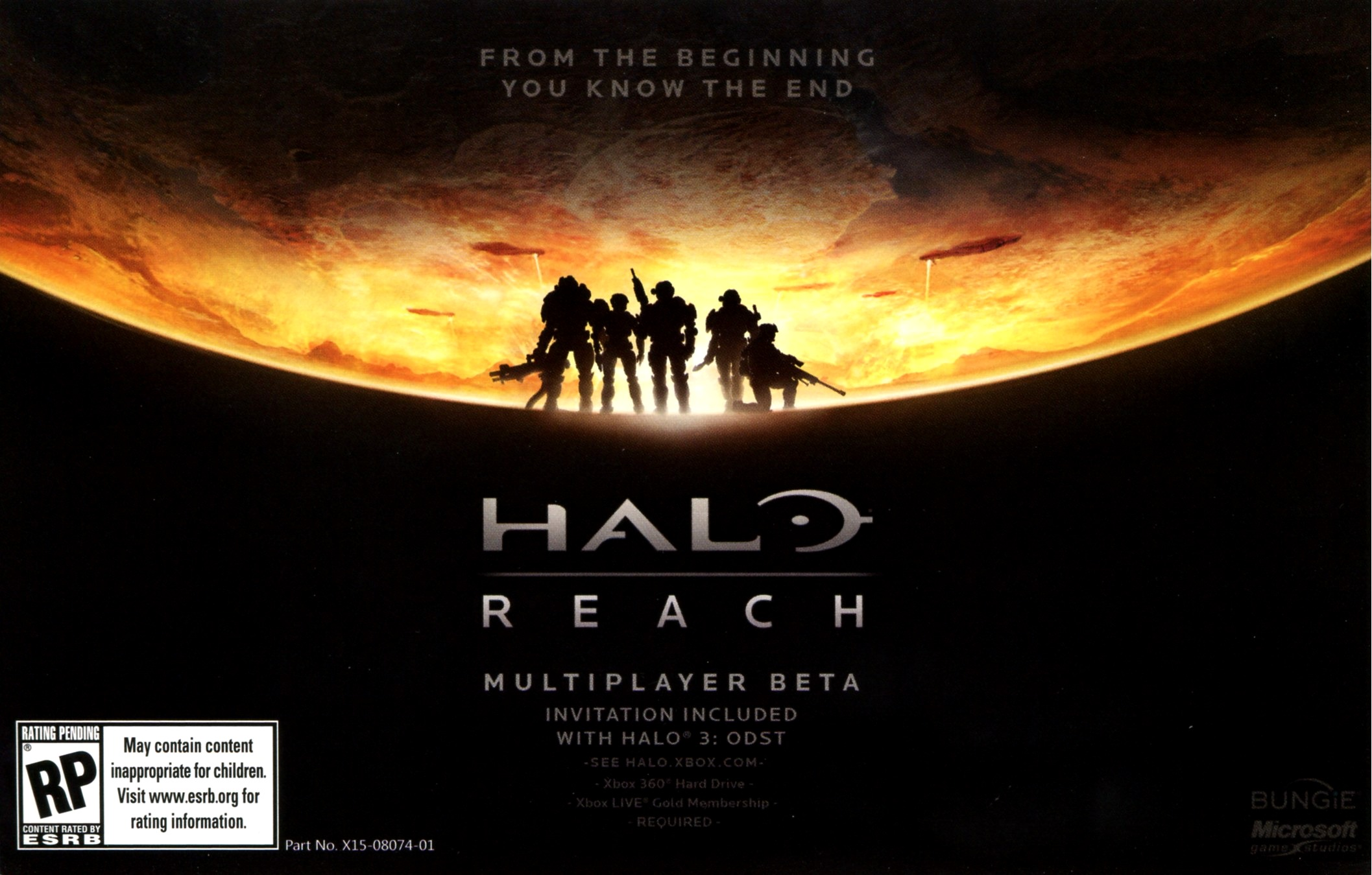 Halo: Reach (2010) promotional art - MobyGames