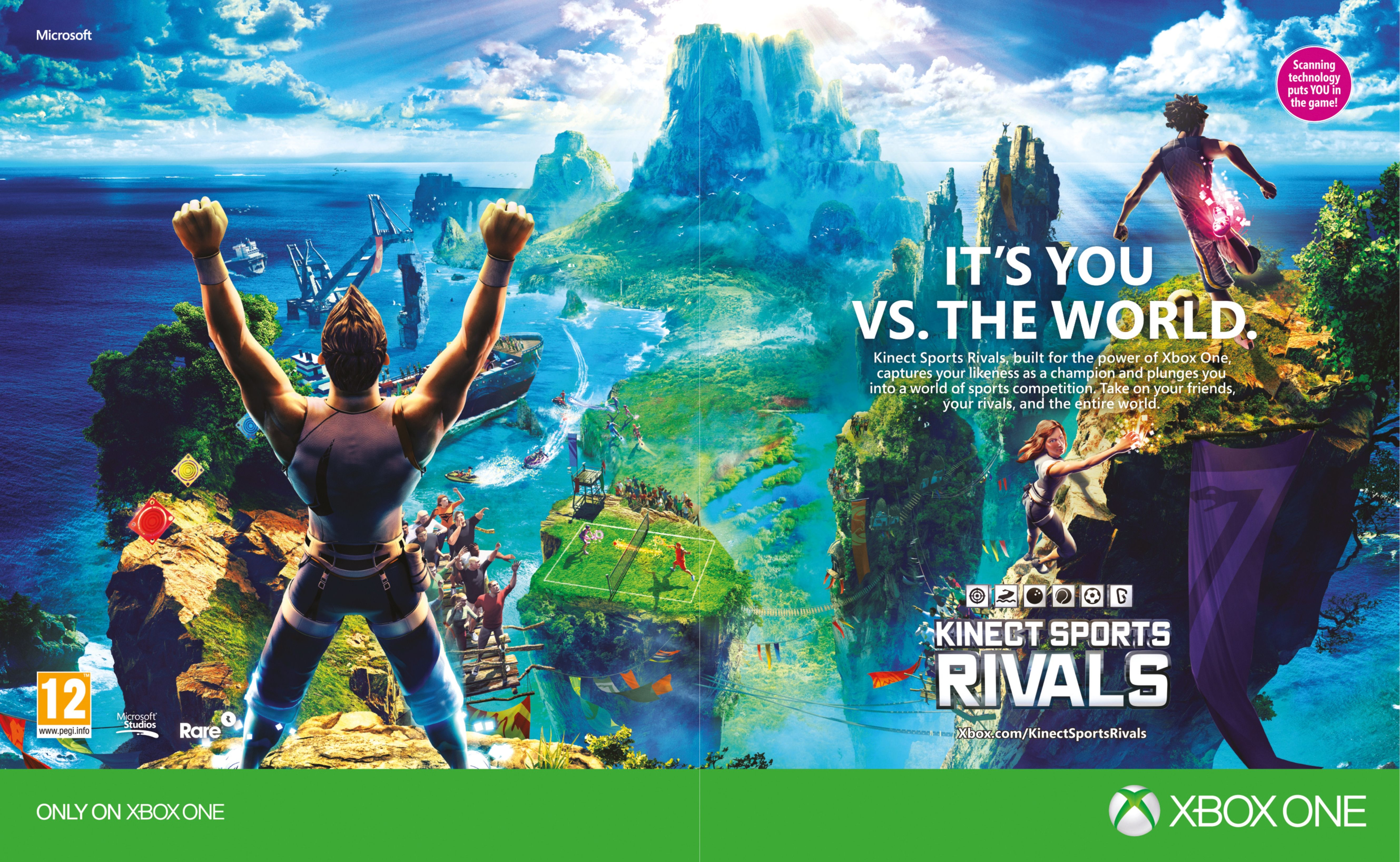 Kinect Sports: Rivals (2014) promotional art - MobyGames