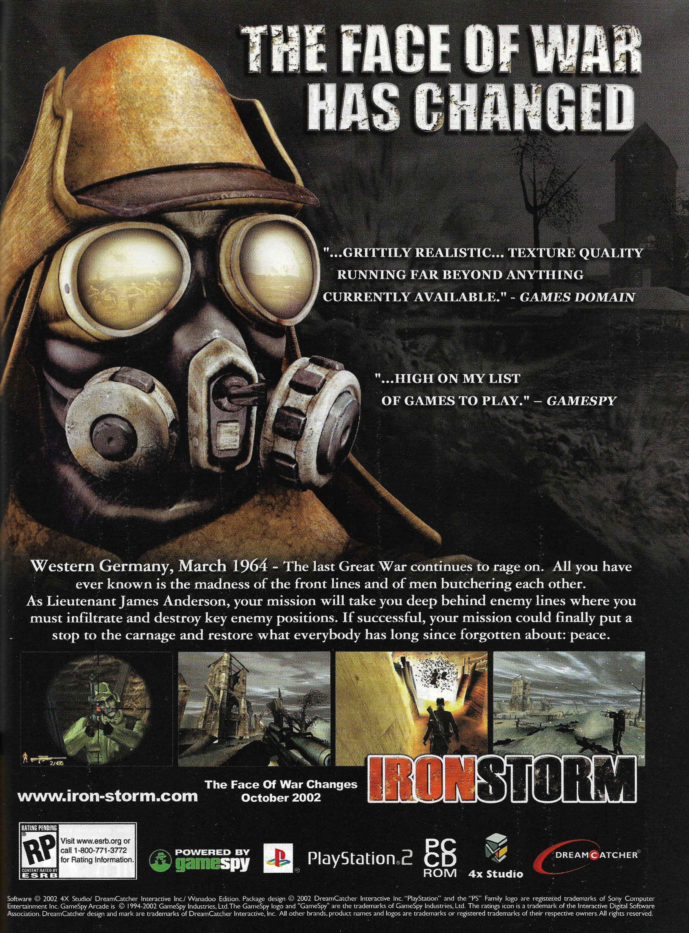 Iron Storm (2002) promotional art - MobyGames