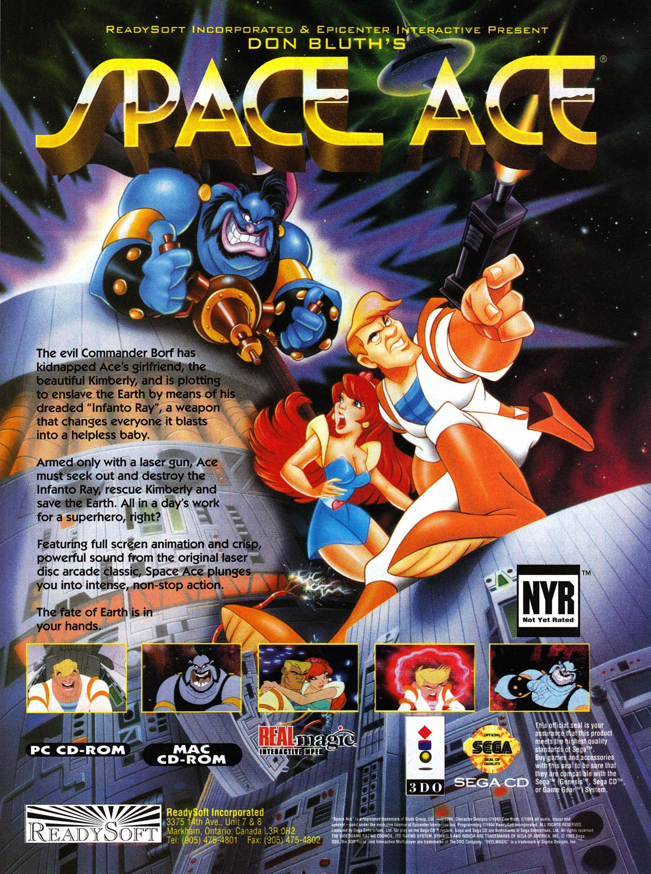 Space Ace (1994) promotional art - MobyGames