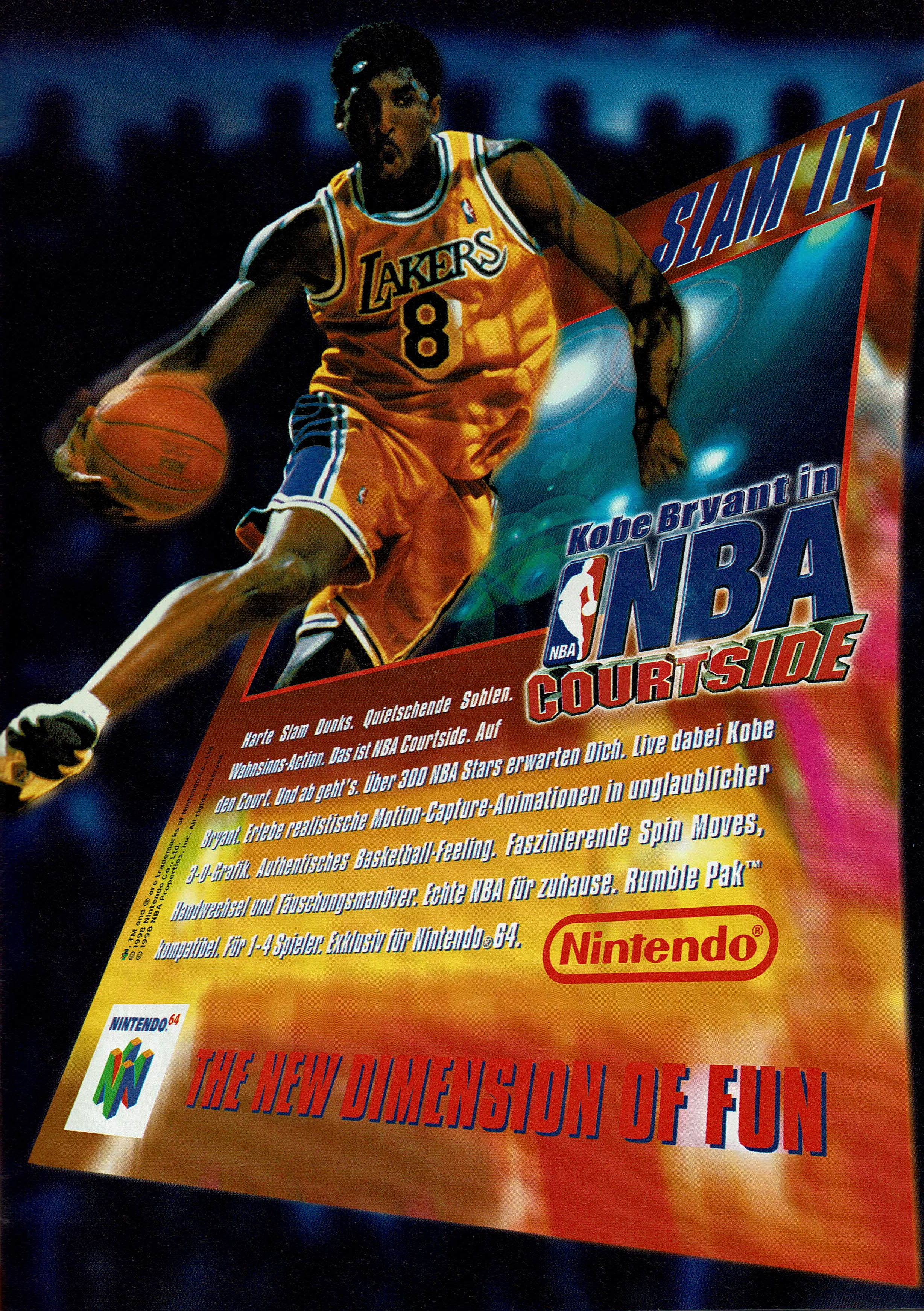 f629e8403fa4 Kobe Bryant in NBA Courtside (1998) promotional art - MobyGames