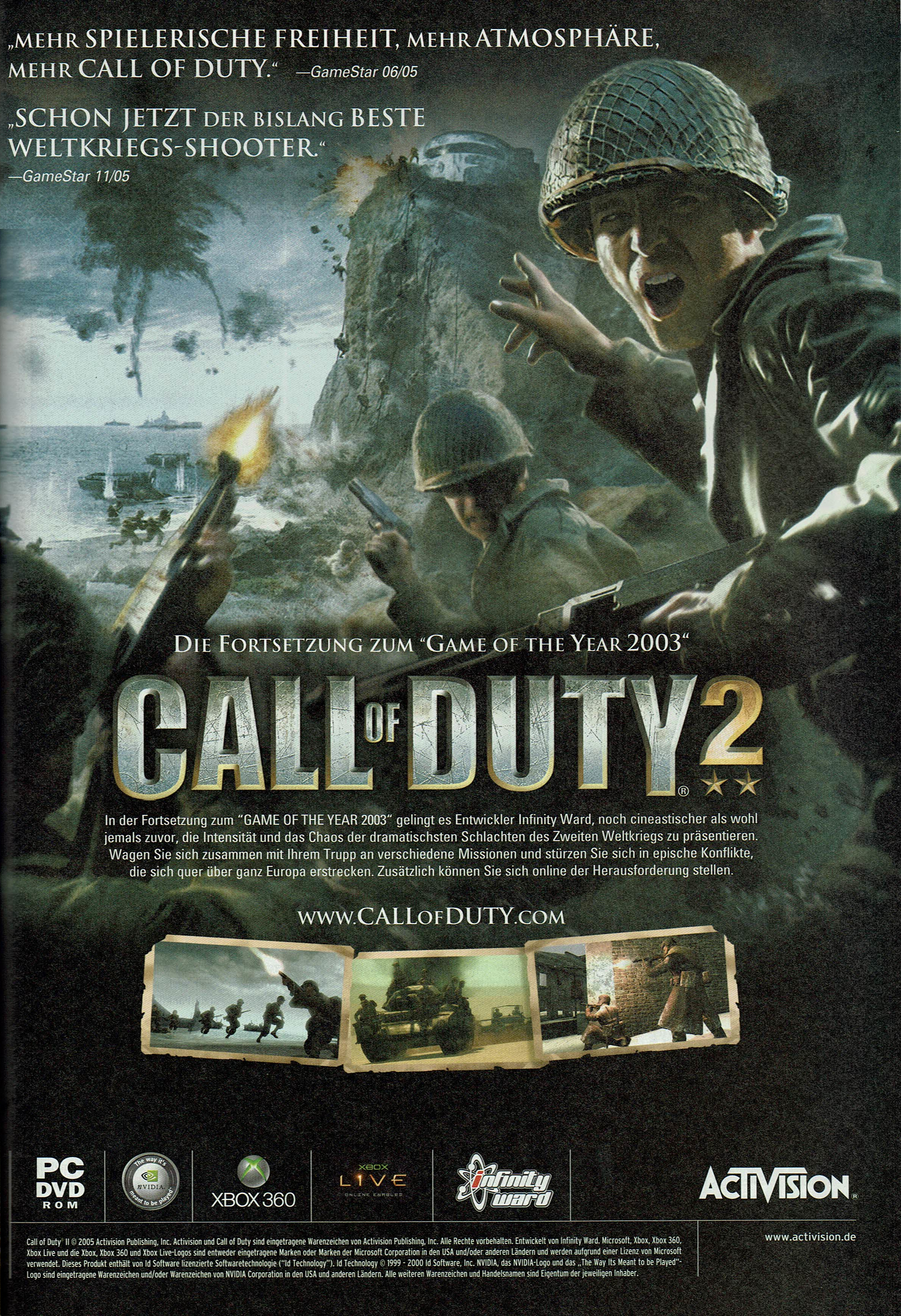 Call of Duty 2 (2005) promotional art - MobyGames
