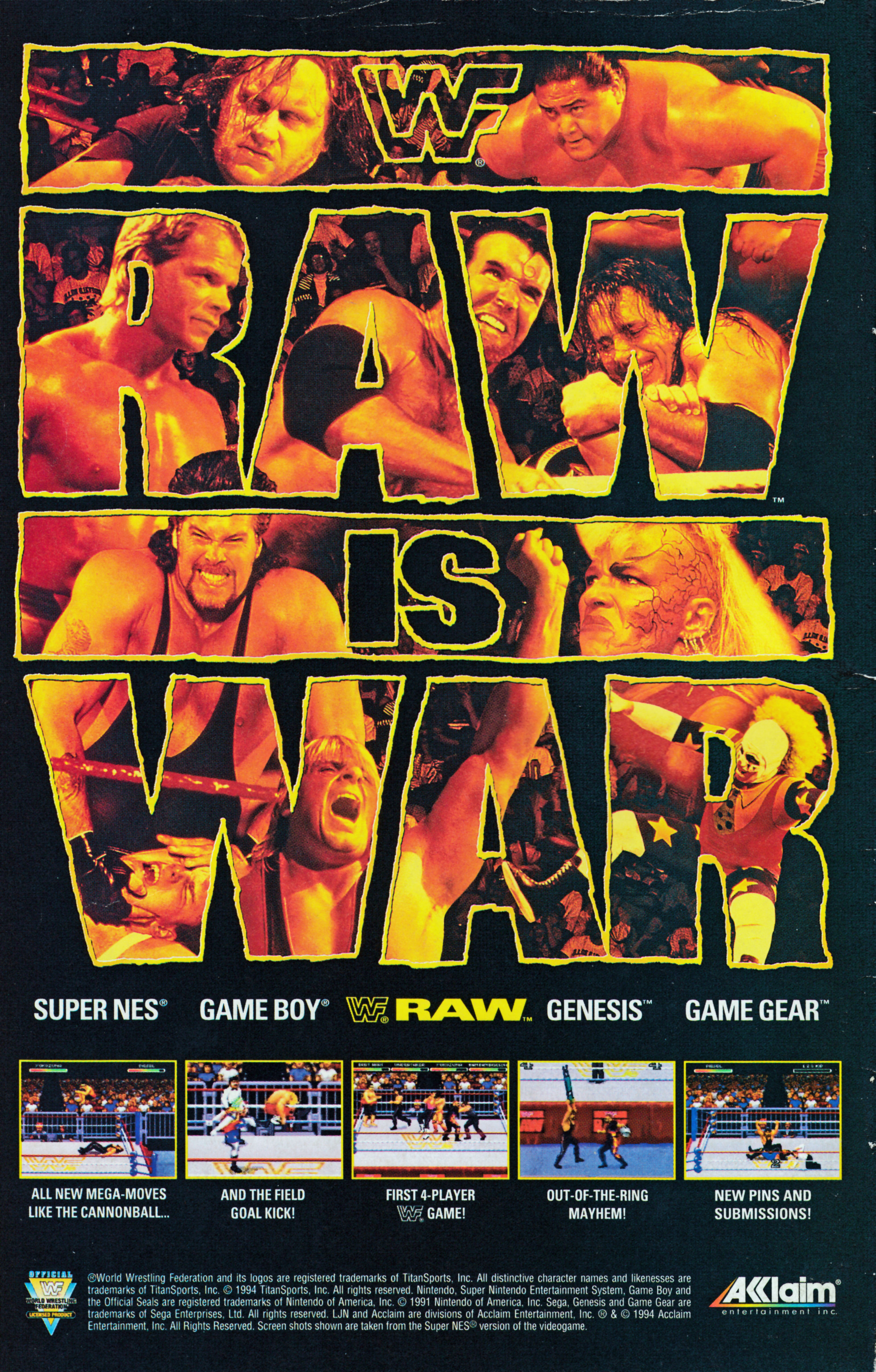 Wwf Raw 1994 Promotional Art Mobygames