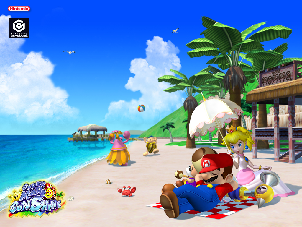 Super Mario Sunshine 2002 Promotional Art Mobygames