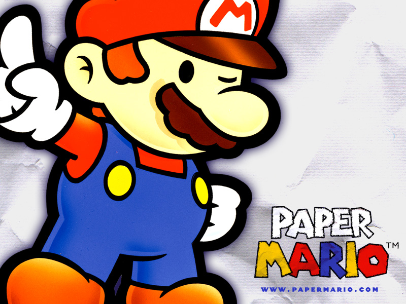 Paper Mario 2000 Promotional Art Mobygames