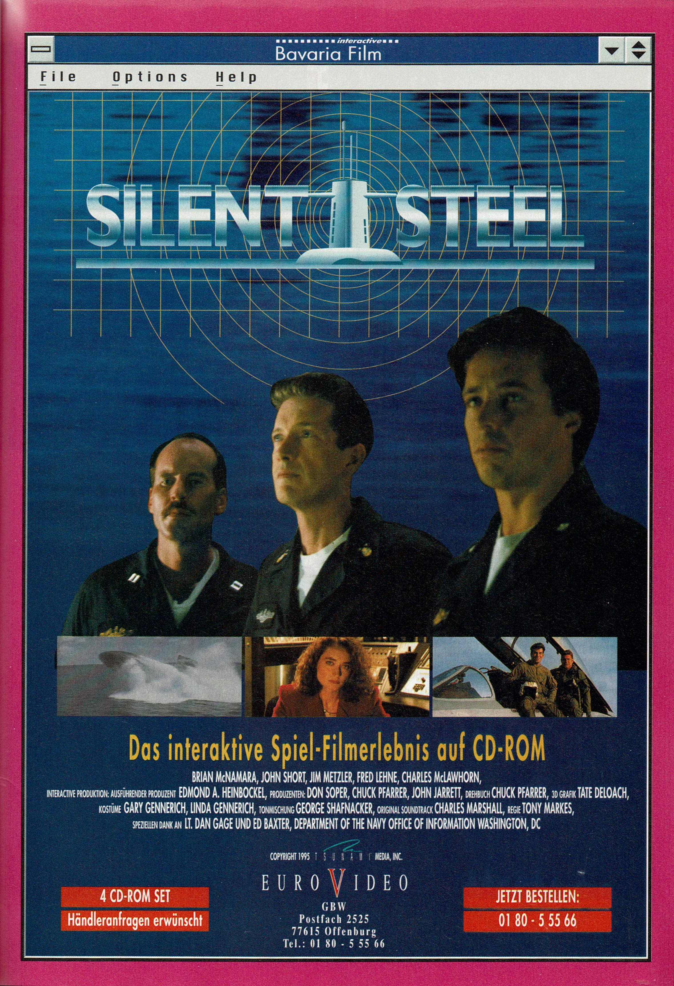 Silent Steel (1998) promotional art - MobyGames