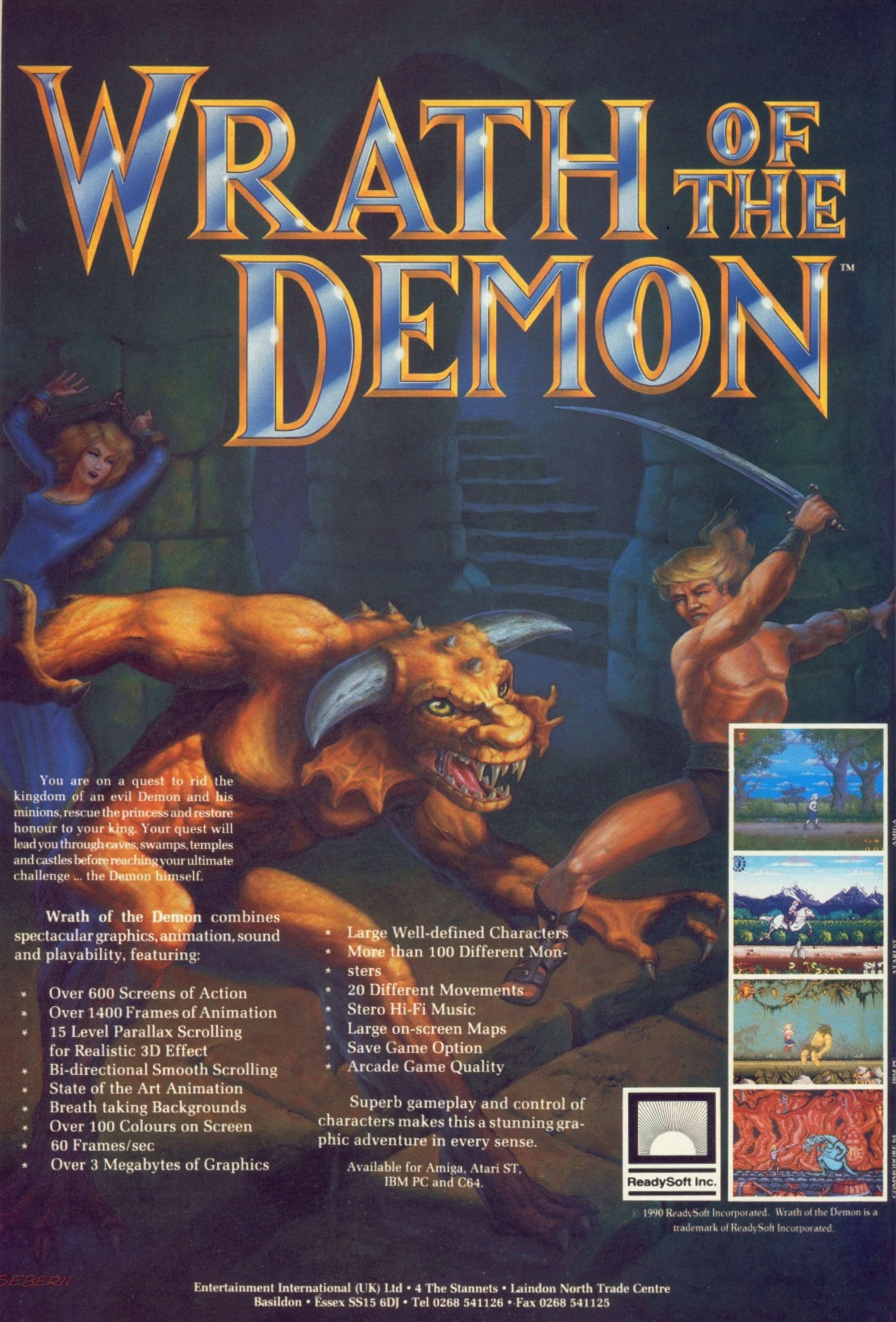 Wrath of the Demon (1991) promotional art - MobyGames