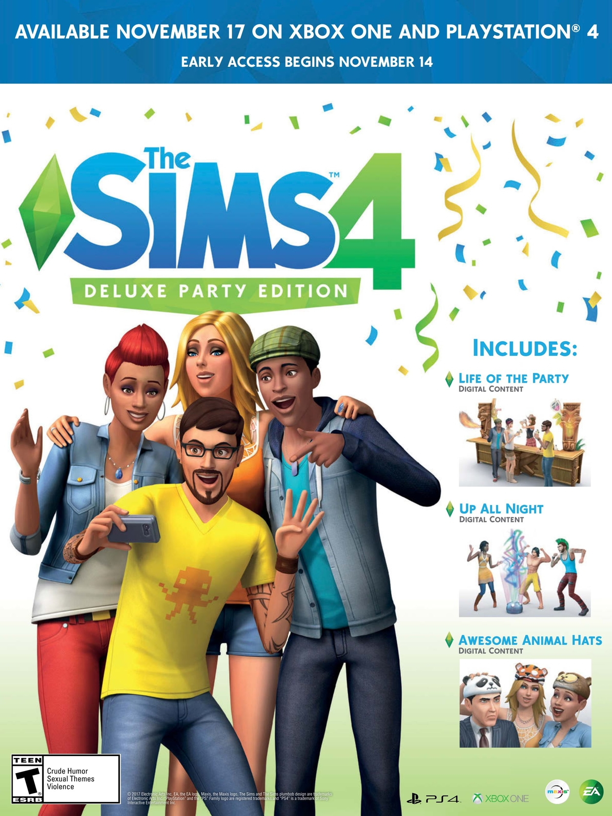 The Sims 4 Deluxe Party Edition 2017 Promotional Art Mobygames