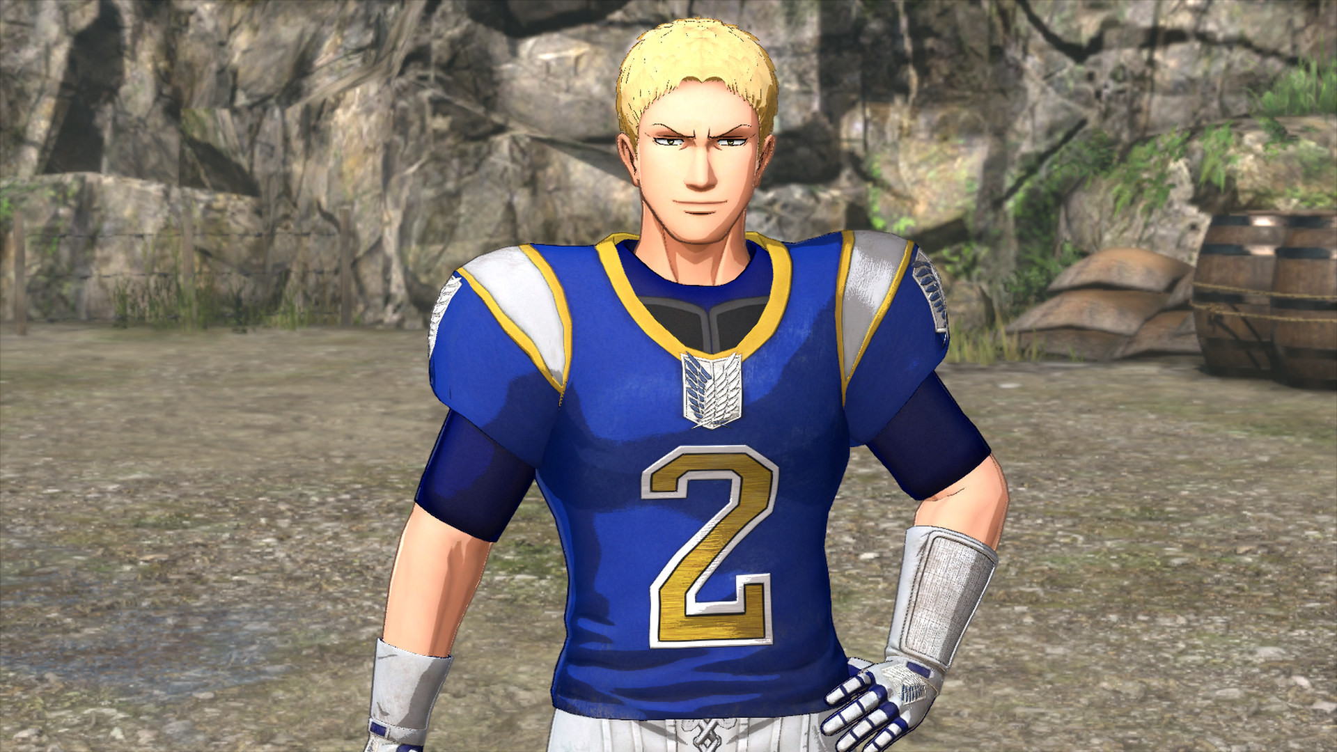 Attack On Titan 2 Reiner Costume American Football Outfit
