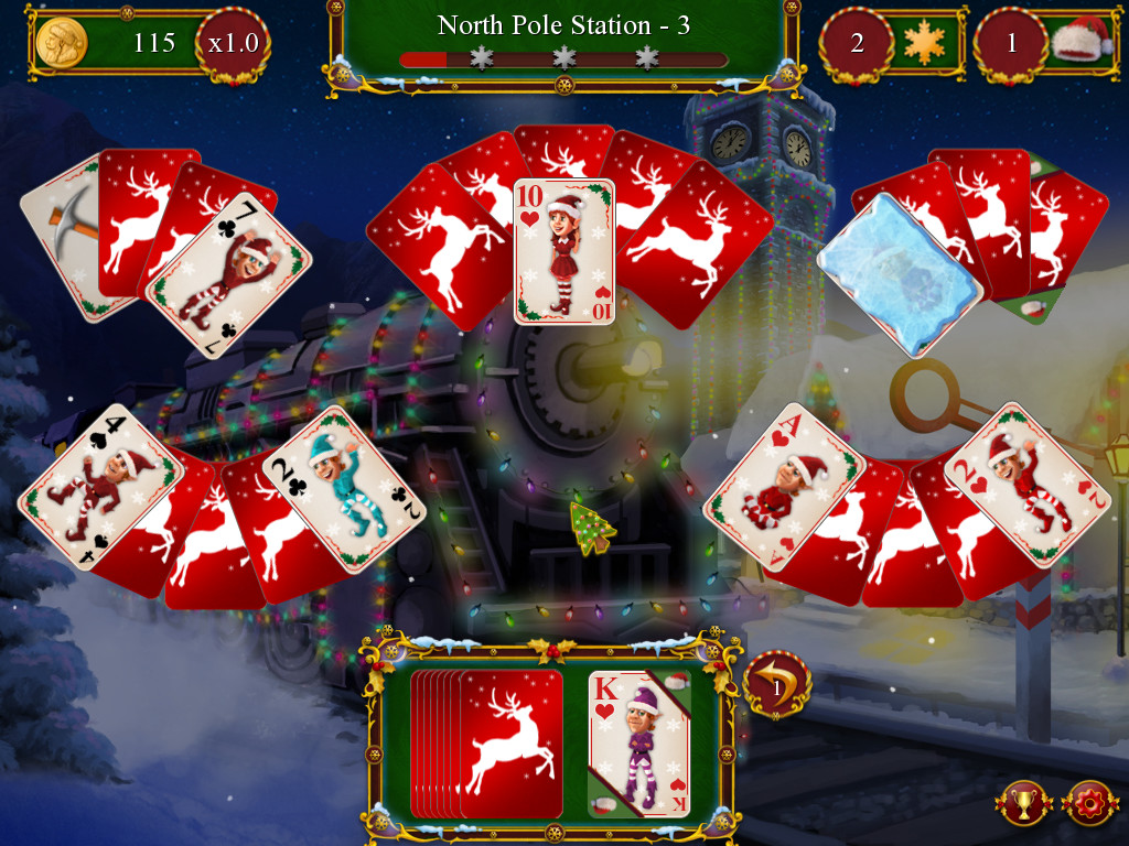 Christmas Solitaire.Santa S Christmas Solitaire 2016 Promotional Art Mobygames