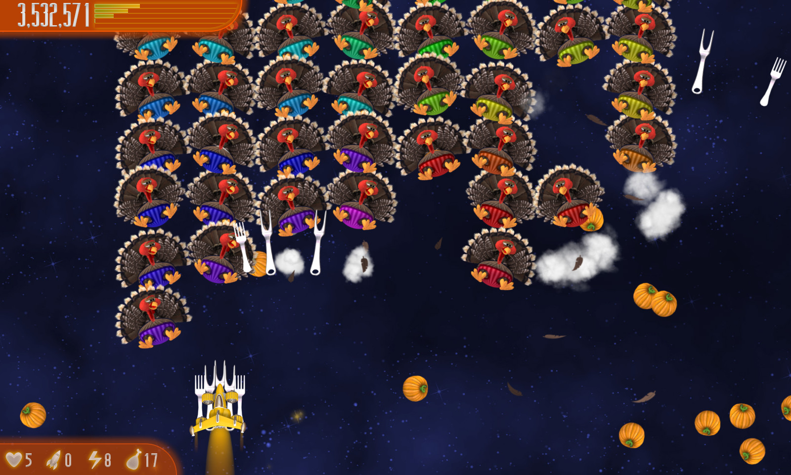 Chicken invaders 4: ultimate omelette thanksgiving edition game.