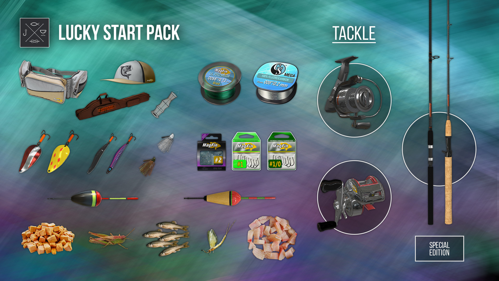 Fishing planet lucky start pack 2016 promotional art for Fishing planet game