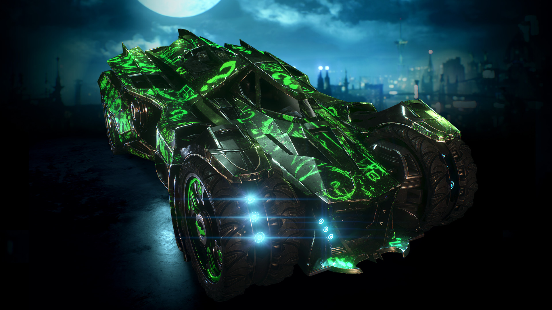 Batman: Arkham Knight - Riddler Themed Batmobile Skin (2015