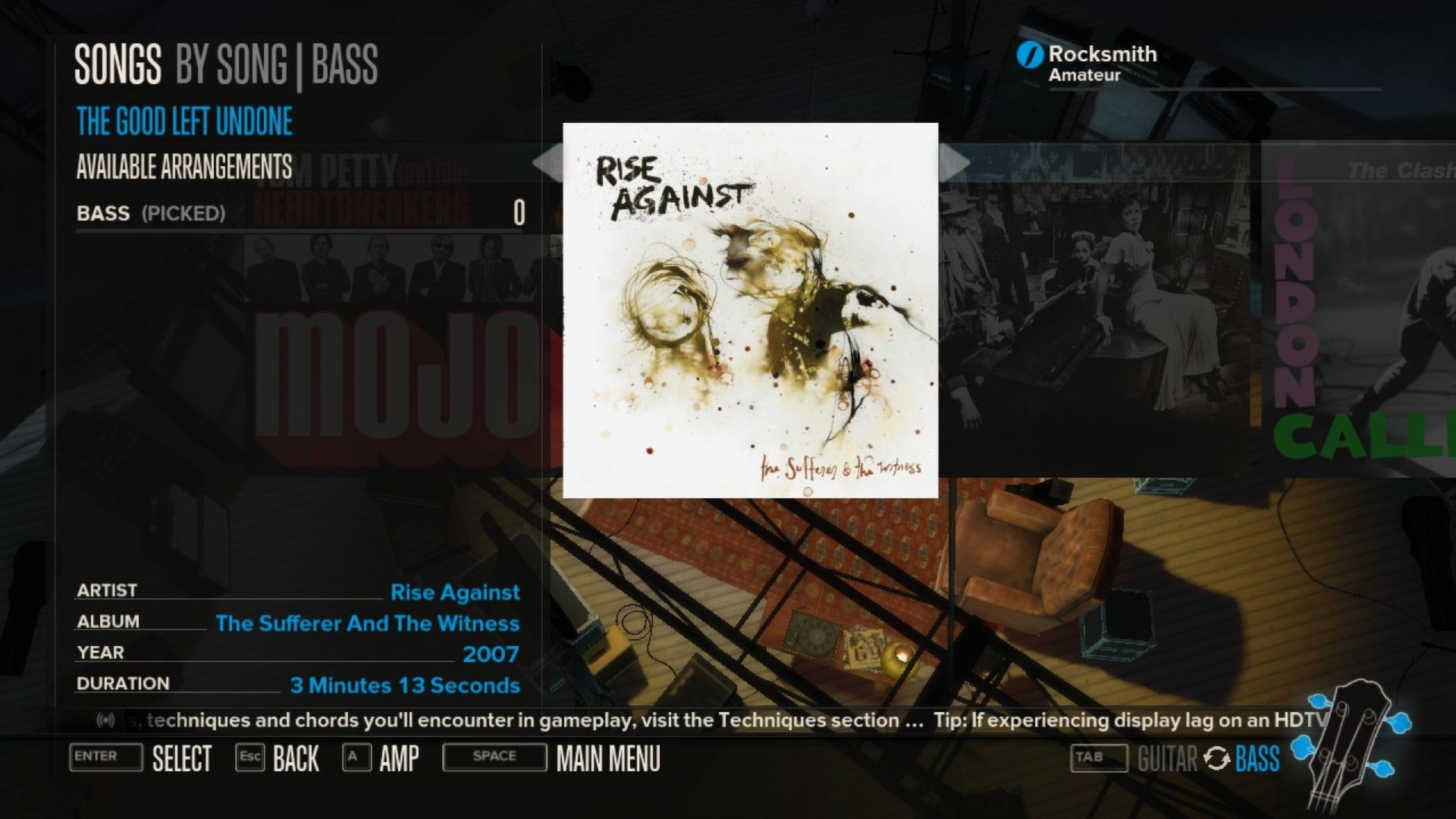 Rocksmith Rise Against The Good Left Undone 2013 Promotional