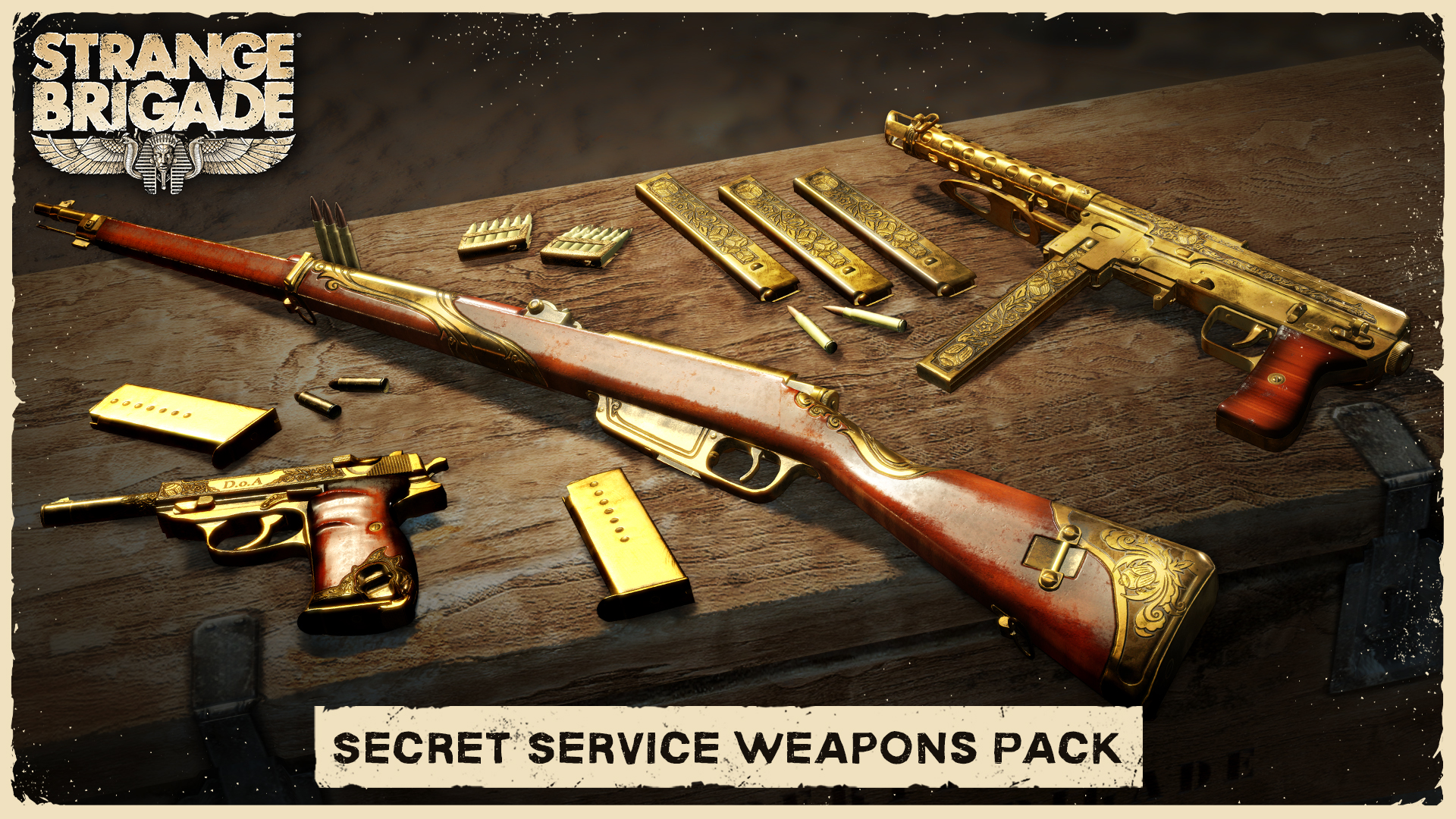 Strange brigade secret service weapons pack 2018 promotional art strange brigade secret service weapons pack screenshot thecheapjerseys Images