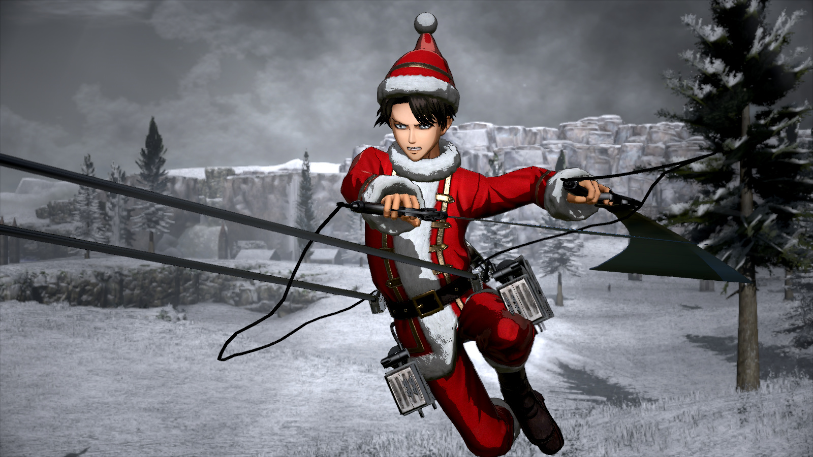 Attack On Titan 2 Christmas Outfit 2018 Promotional Art Mobygames