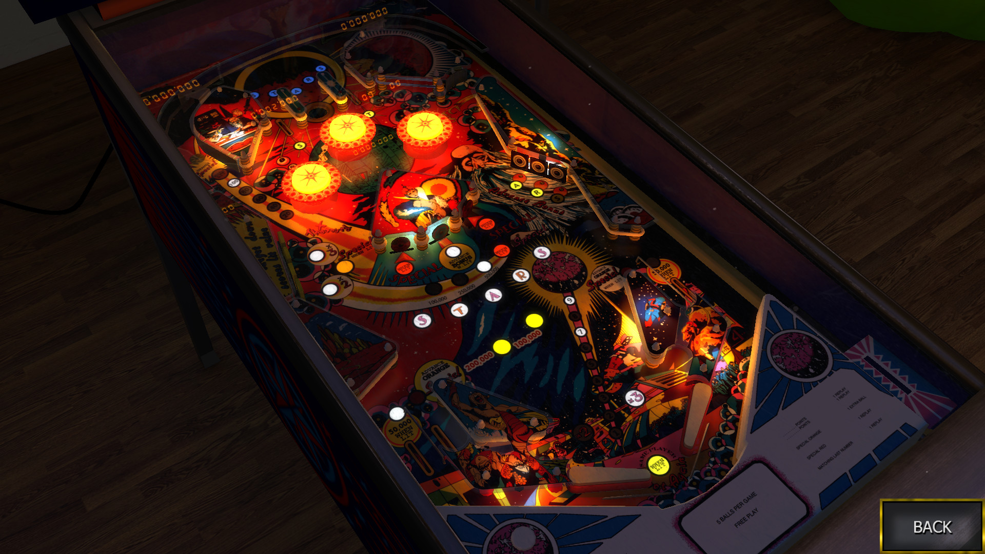 Zaccaria Pinball: Mystic Star Table (2017) promotional art