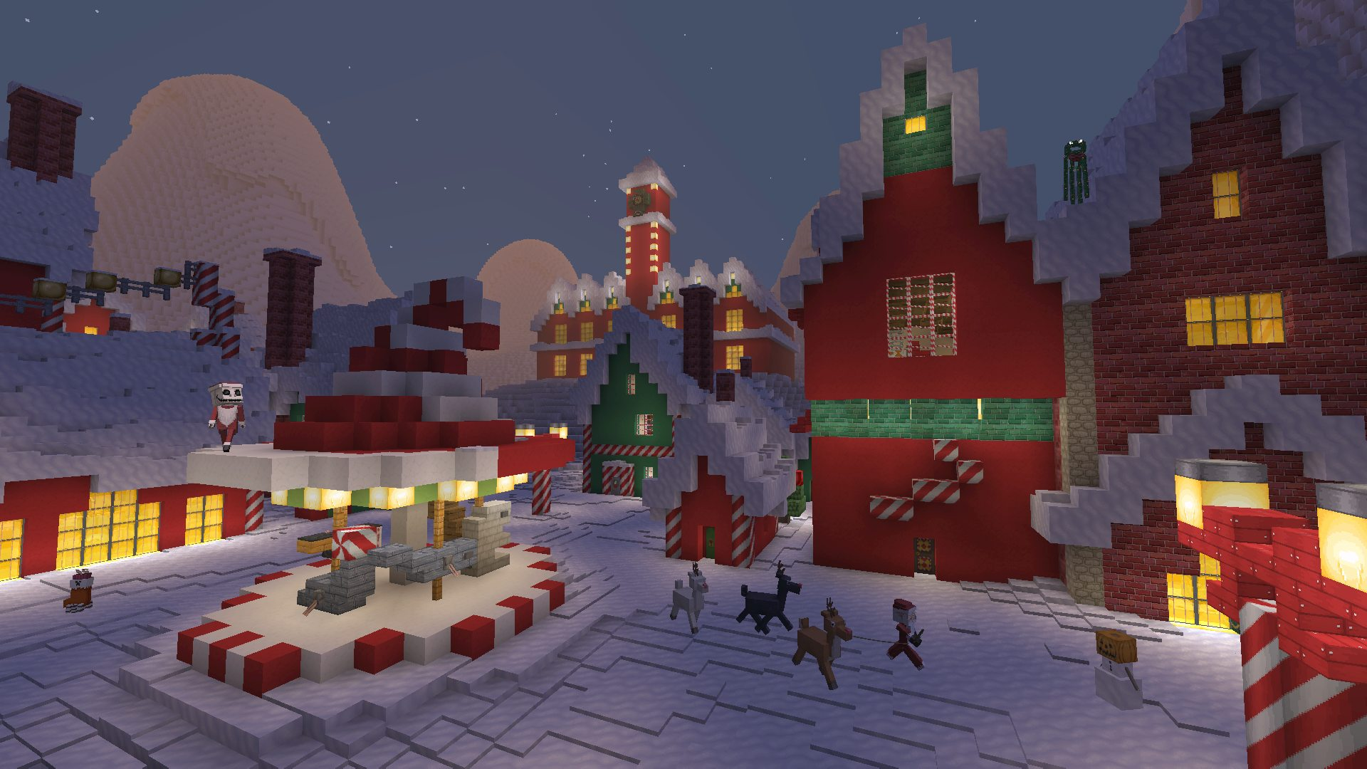 Minecraft Christmas Houses.Minecraft Tim Burton S The Nightmare Before Christmas 2018