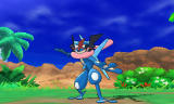 Pokémon Sun and Pokémon Moon: Special Demo Version Screenshot Greninja's appearance is changed by the bond phenomenon.