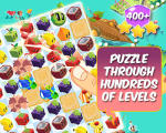 Juice Cubes Other An advertising image that promotes that there are hundreds of puzzles in the game