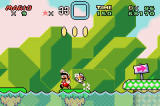 Super Mario World: Super Mario Advance 2 Screenshot Mario jumps to avoid marine hazards.