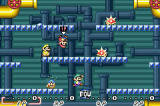 "Super Mario World: Super Mario Advance 2 Screenshot Players discovered the joy of ""cut-throat"" style Mario Bros. in Super Mario Advance. The multi-player mode is enhanced in Super Mario Advance 2."