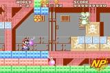 Super Mario Advance Screenshot To eliminate enemies, Mario and pals pull vegetables out of the ground and hurl them at bad guys. Some characters can yank things out of the ground quicker than others.