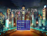 Legend of Zun Screenshot Start Screen