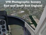 VFR Photographic Scenery:  East & South-East England Screenshot Title - while flying over the Thames river.