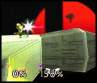 Super Smash Bros. Screenshot Fox's Blaster Shot reloads faster than Samus's Charge Shots, but is not nearly as strong.